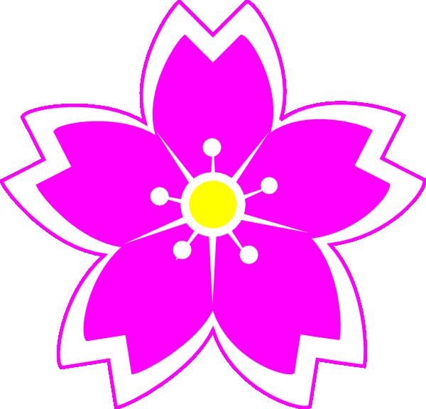 lily clipart fuschia flower