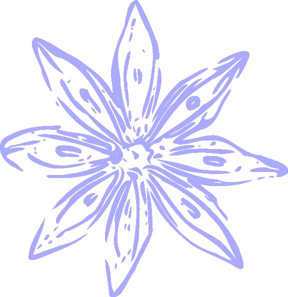 lily clipart light purple flower