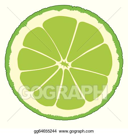 Lime clipart lime slice. Vector illustration gg