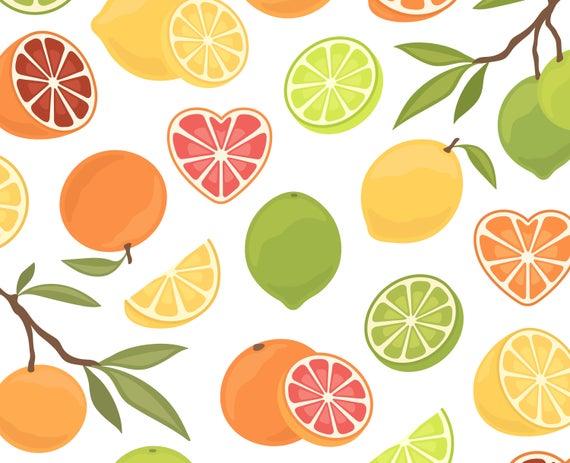 Lime clipart summer fruit. Lemon orange grapefruit clip