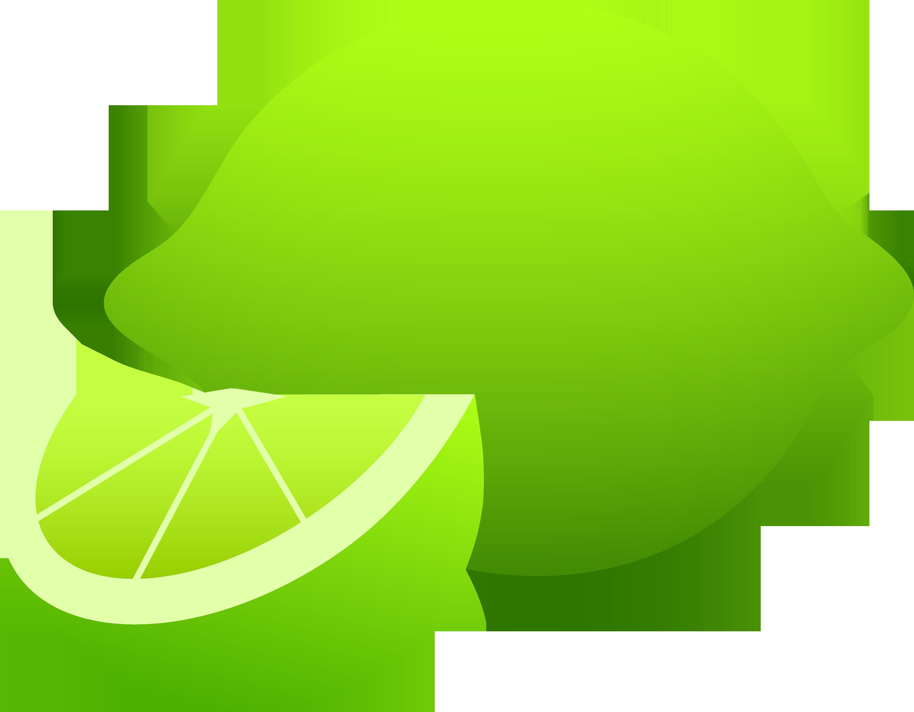 Lime transparent background