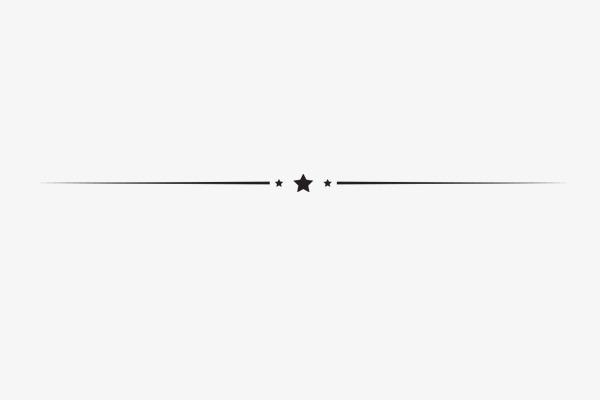 Line clipart. Star horizontal decoration elements