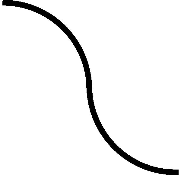 Curved black clip art. Line clipart