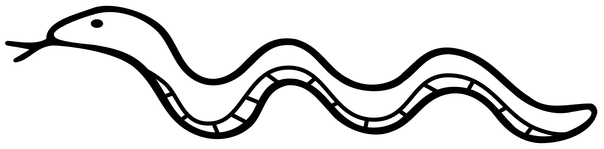 Snake clipart shadow. Black outline to color
