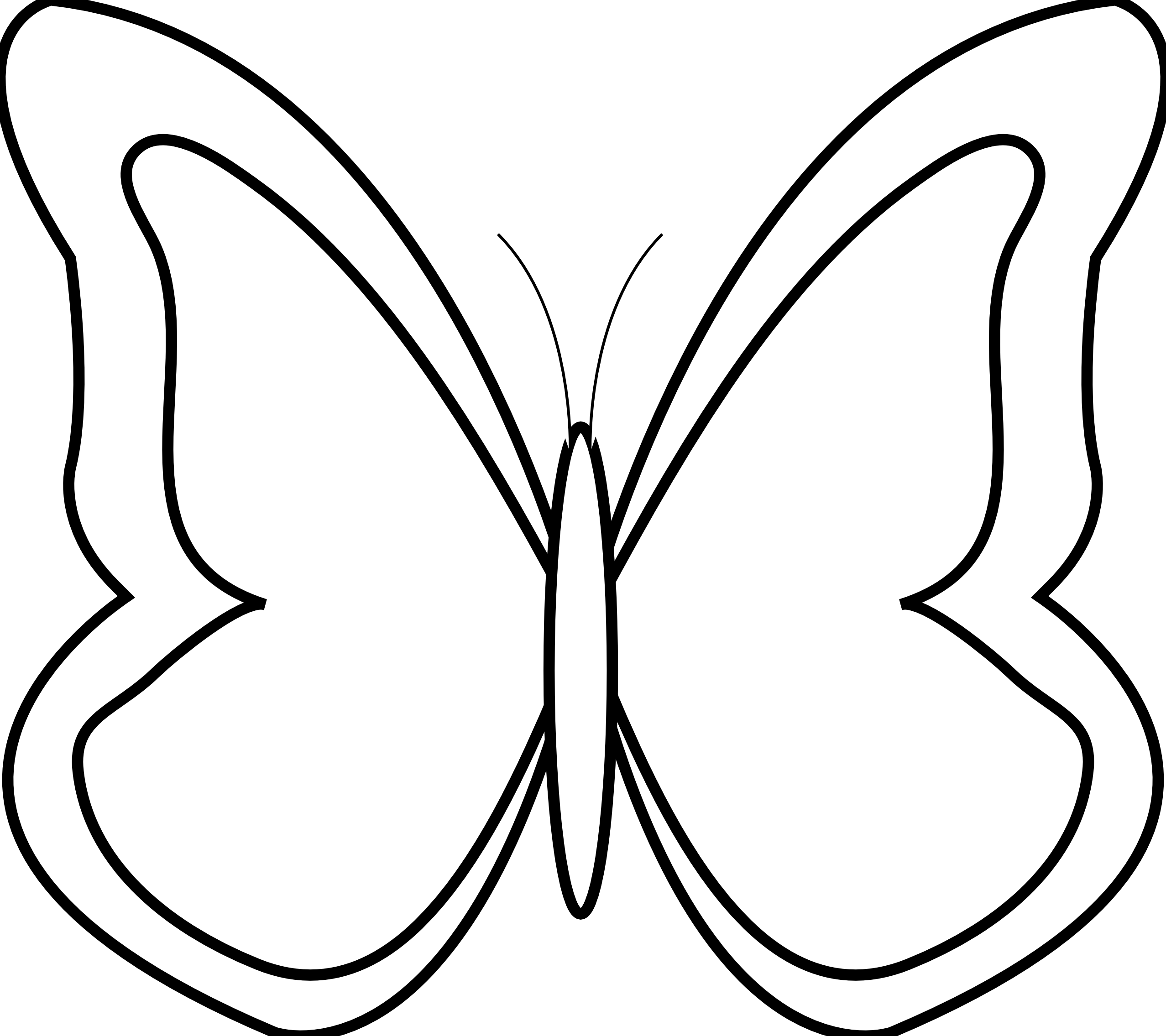 Butterfly flying outline panda. Yogurt clipart color