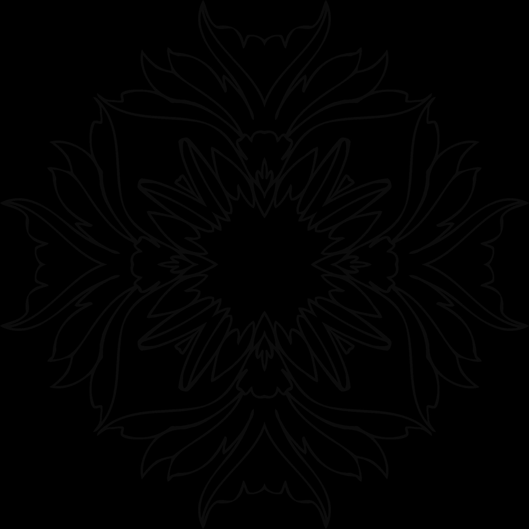 Flower line art png. Clipart big image