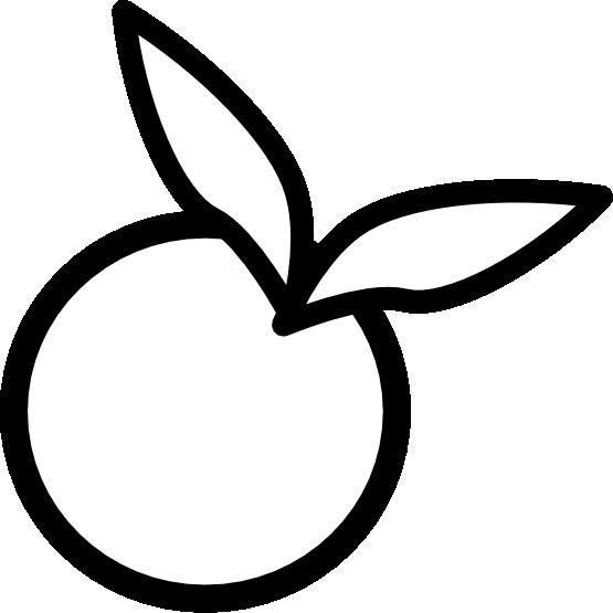 Peach clipart black and white. Orange icon line panda