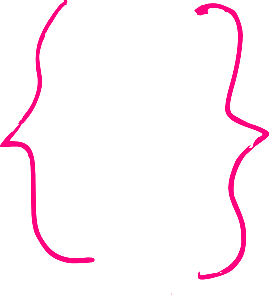 Curly clip art at. Pink clipart bracket