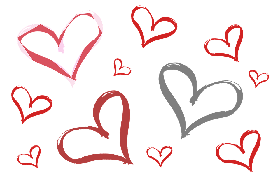 valentines day for. Line of hearts png