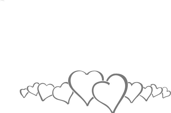In a clip art. Line of hearts png