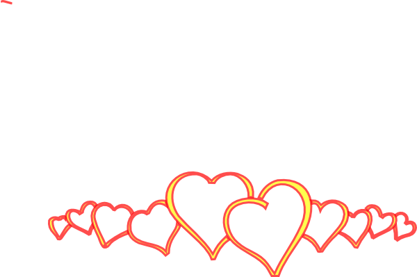 Line of hearts png. Yellow clip art at