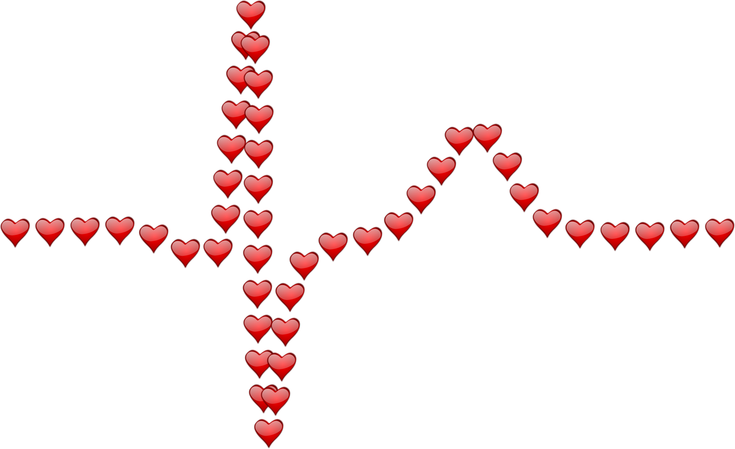 Ecg icons free and. Line of hearts png