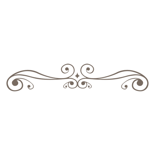 Curly ornament decoration transparent. Line vector png