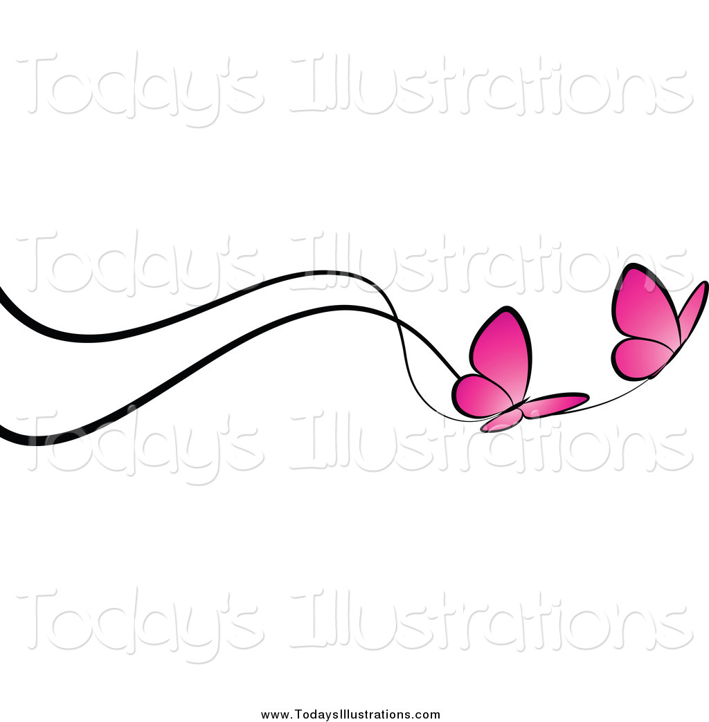 Of a border pink. Lines clipart