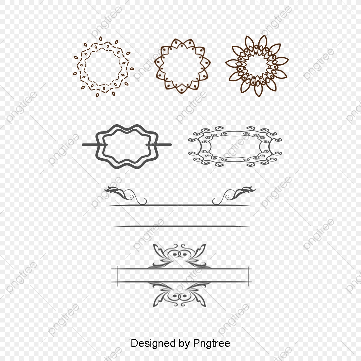 Pattern borders and border. Lines clipart dividing line