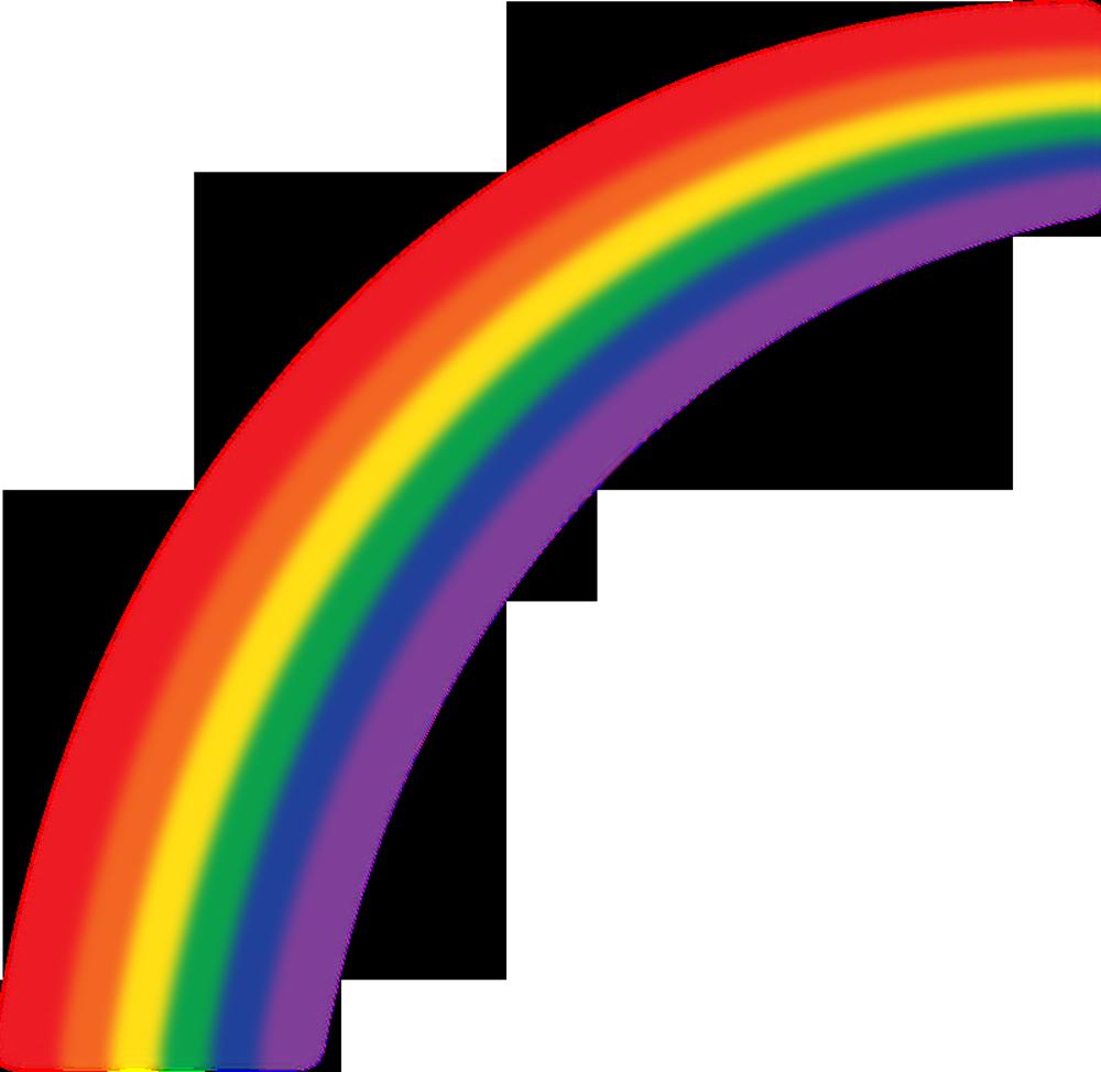 lines clipart rainbow