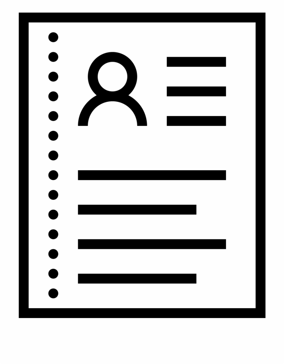 Resum icon free png. Lines clipart resume