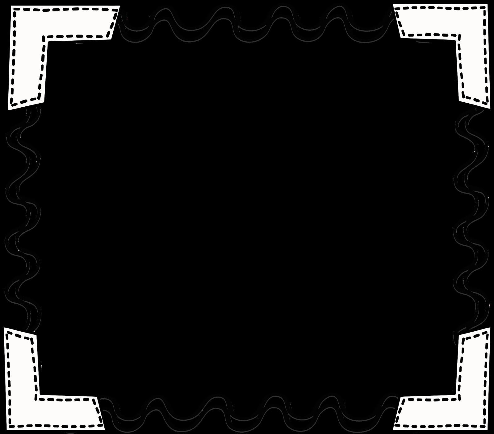 Newspaper clipart border. Black white scribbleframe png