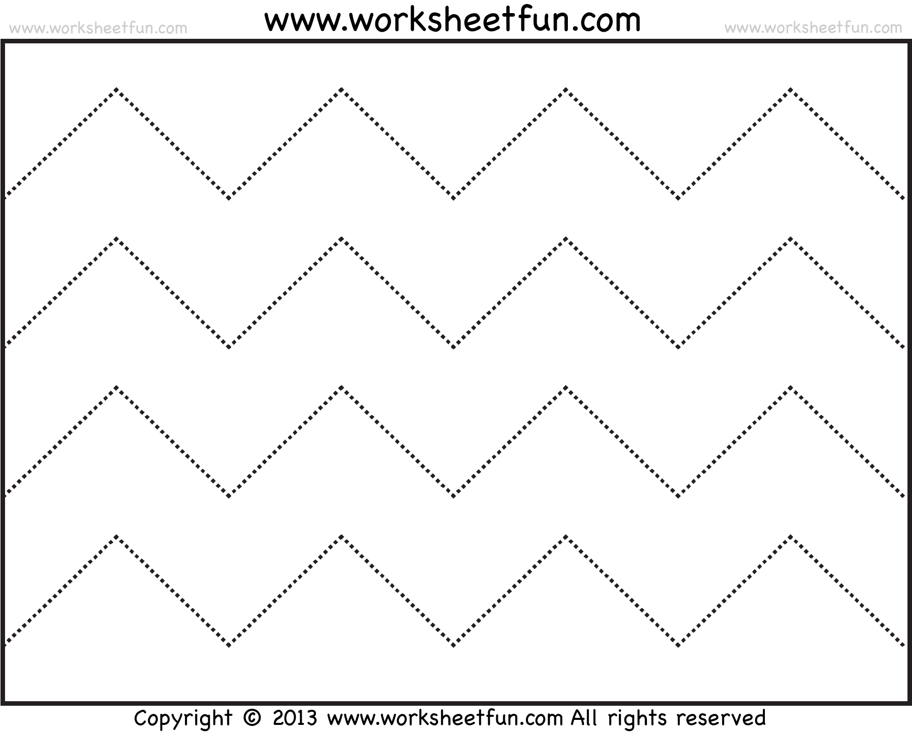 Zig zag line tracing. Lines clipart zigzag