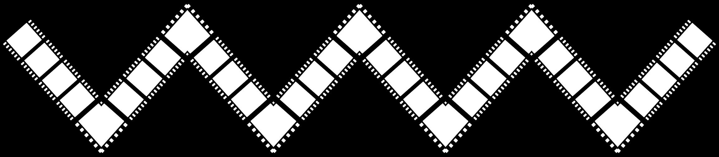 Film strip zig zag. Lines clipart zigzag