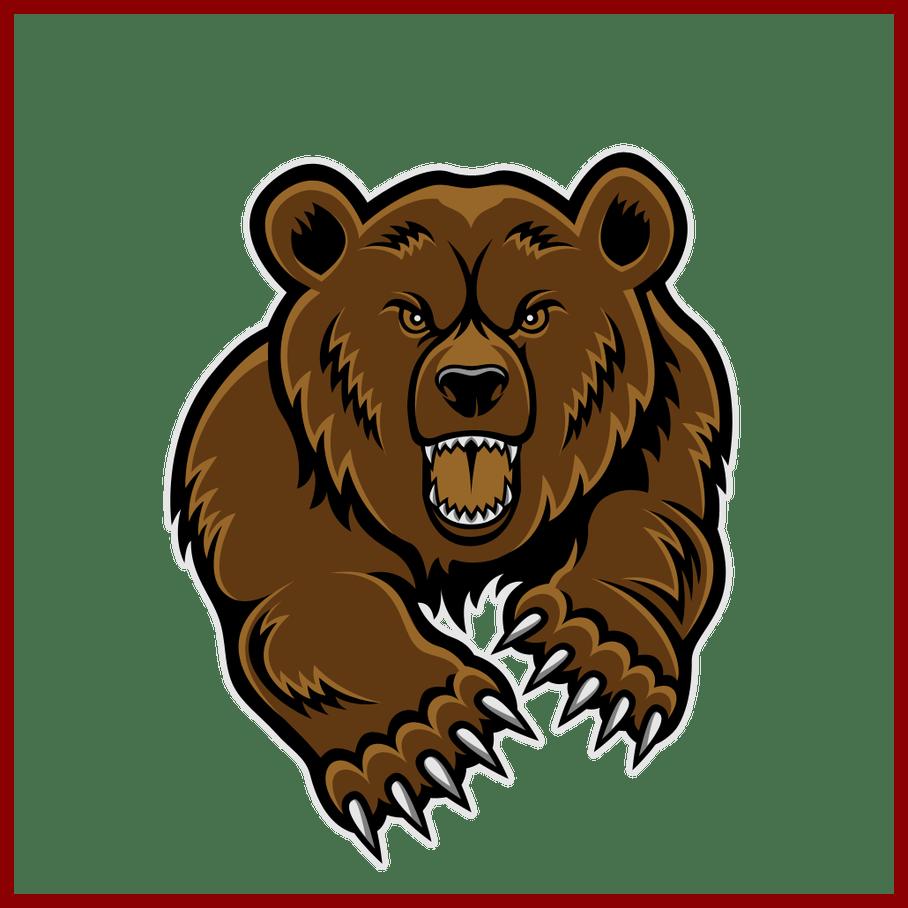Panda clipart lion. Stunning grizzly bear mascot