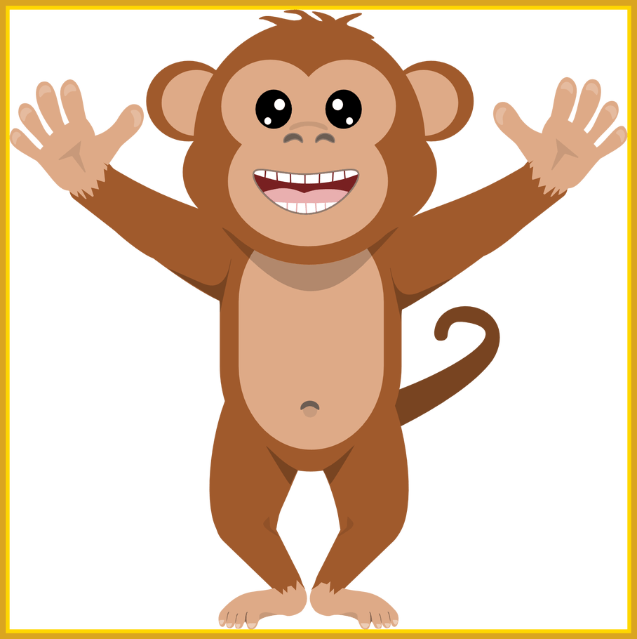 Monkey clipart lion. Awesome mixed clip art