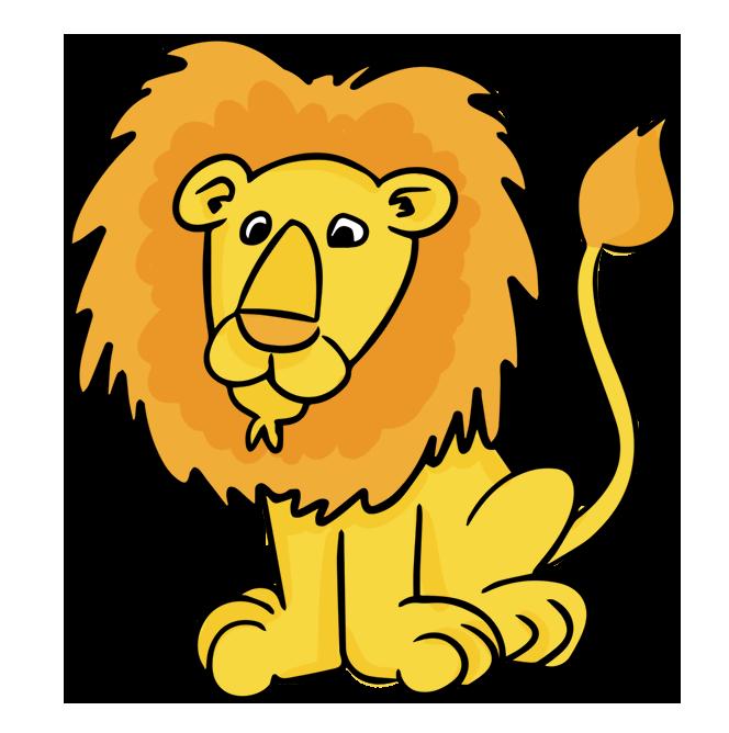 Lion clipart run. Lions animals en jungle