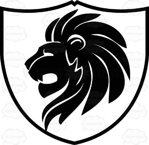 Lion clipart shield. Pin by dawn dillon