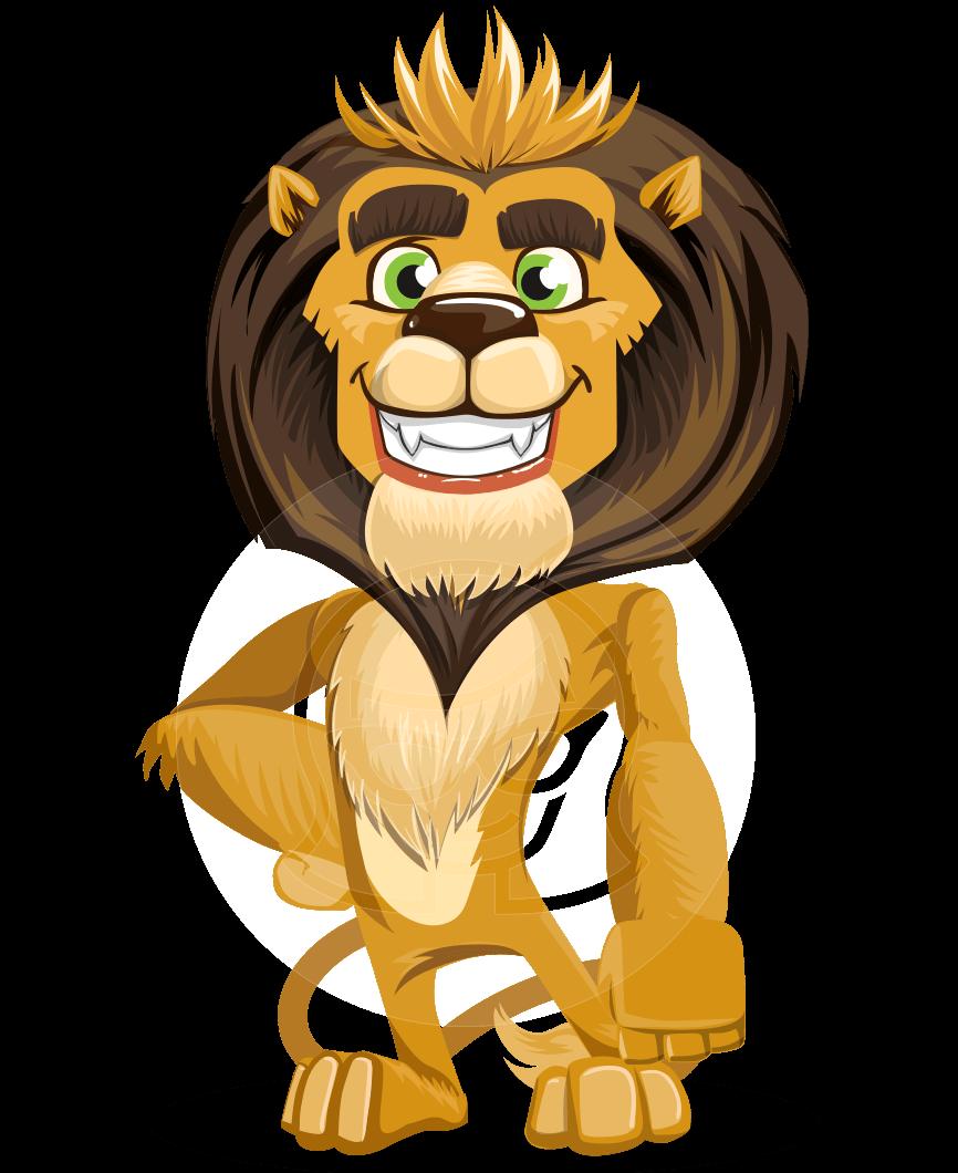 Cartoon character leo nardo. Lion vector png