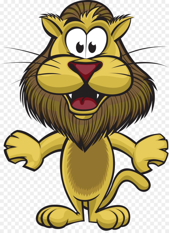 Cartoon clip art png. Lions clipart