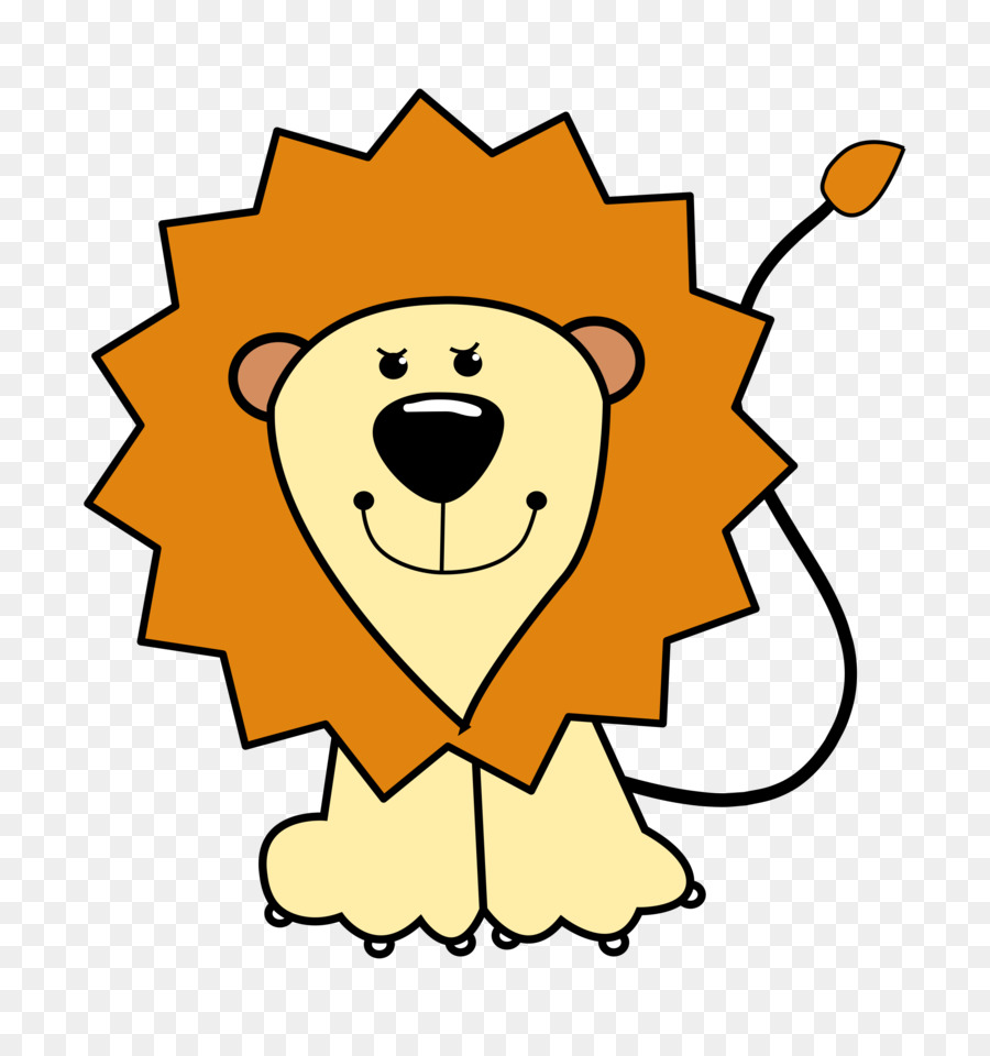 Lions clipart. Baby cartoon drawing clip