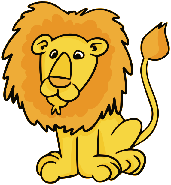 Lion for kids free. Lions clipart