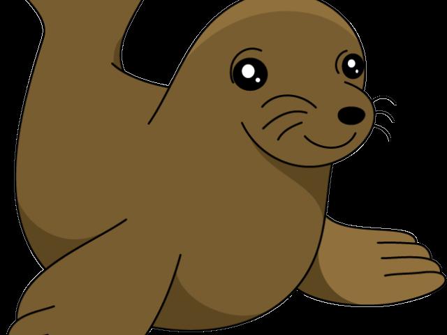 Walrus clipart animal sea nz. Lion clip art vector