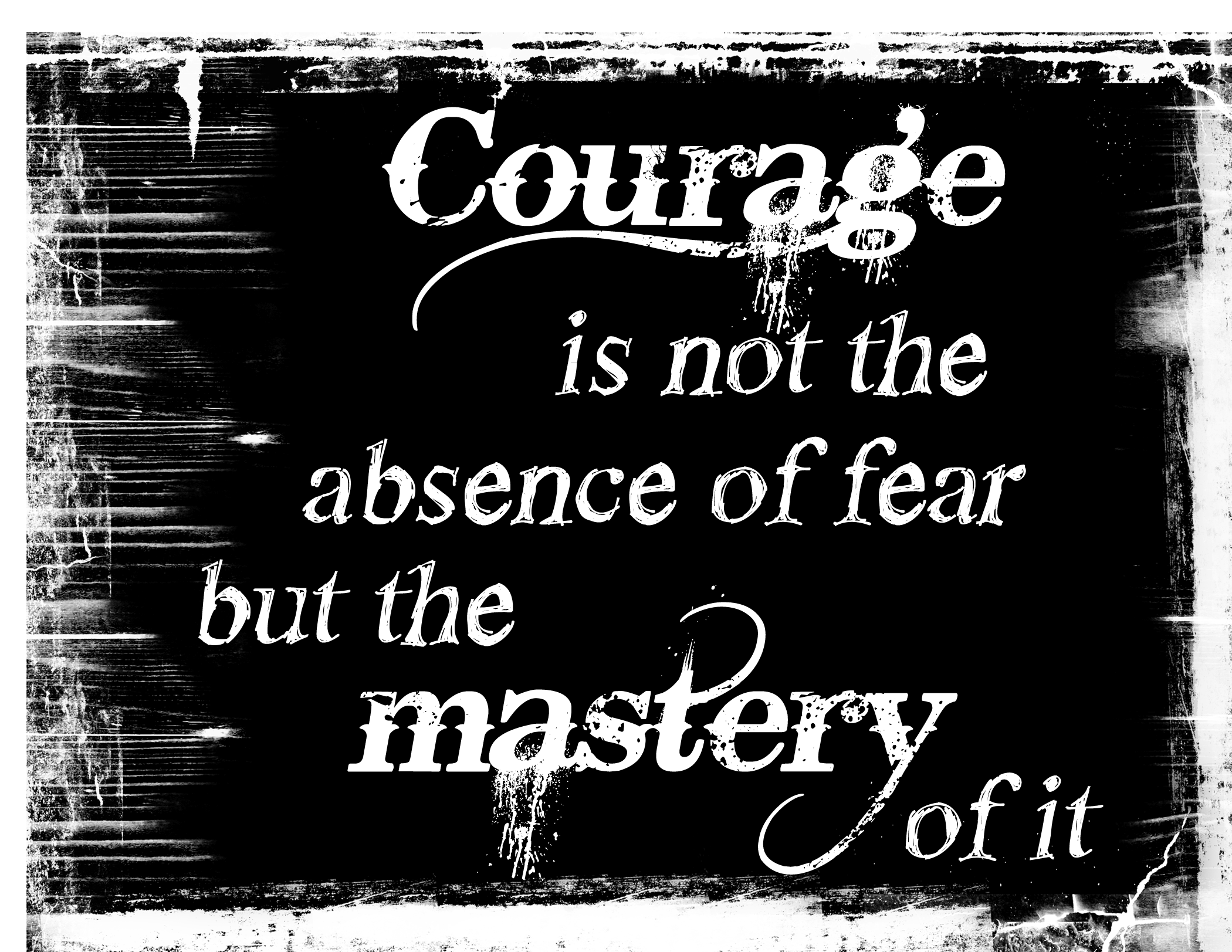 Words clipart courage. To try