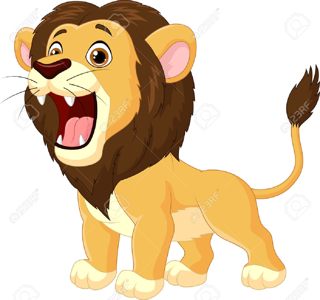 Lions clipart open mouth. Lion roaring free download