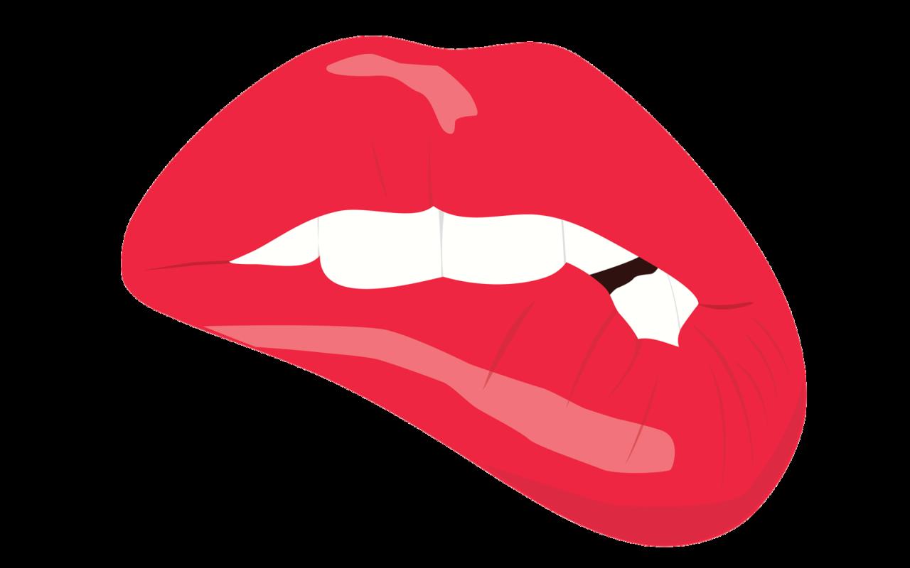 Lip clipart bite. Lipstick how i love