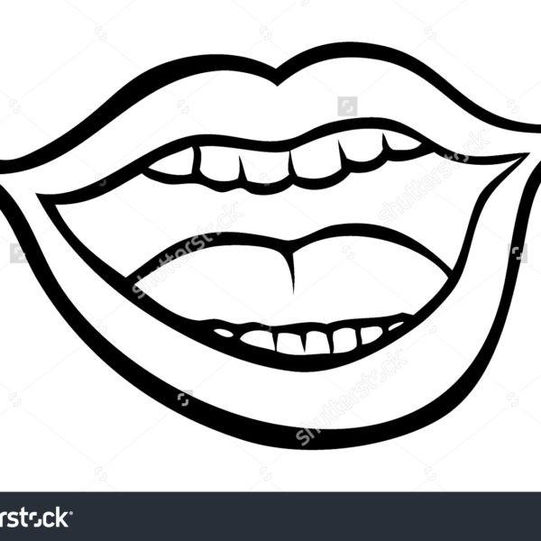 Lips clip art . Lip clipart black and white