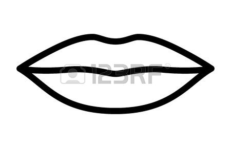 Station . Lip clipart black and white