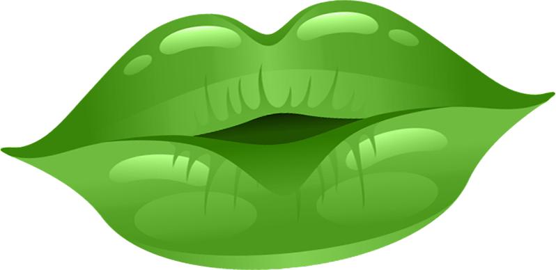 lipstick clipart green lip