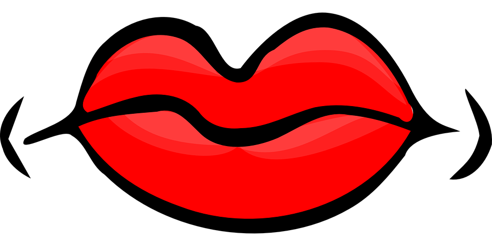 Image of red shop. Lips clipart kiss the cook