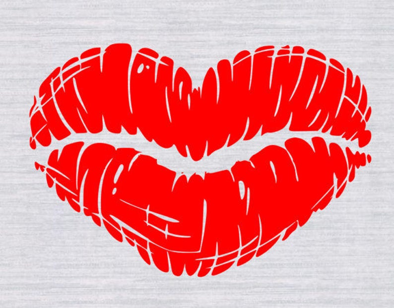 Lips svg valentine files. Lip clipart heart