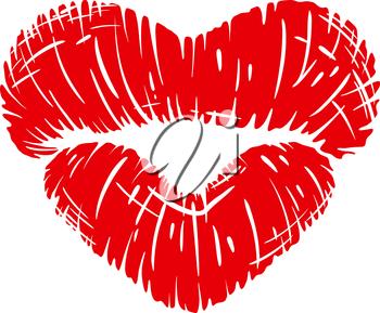Iclipart clip art illustration. Lip clipart heart