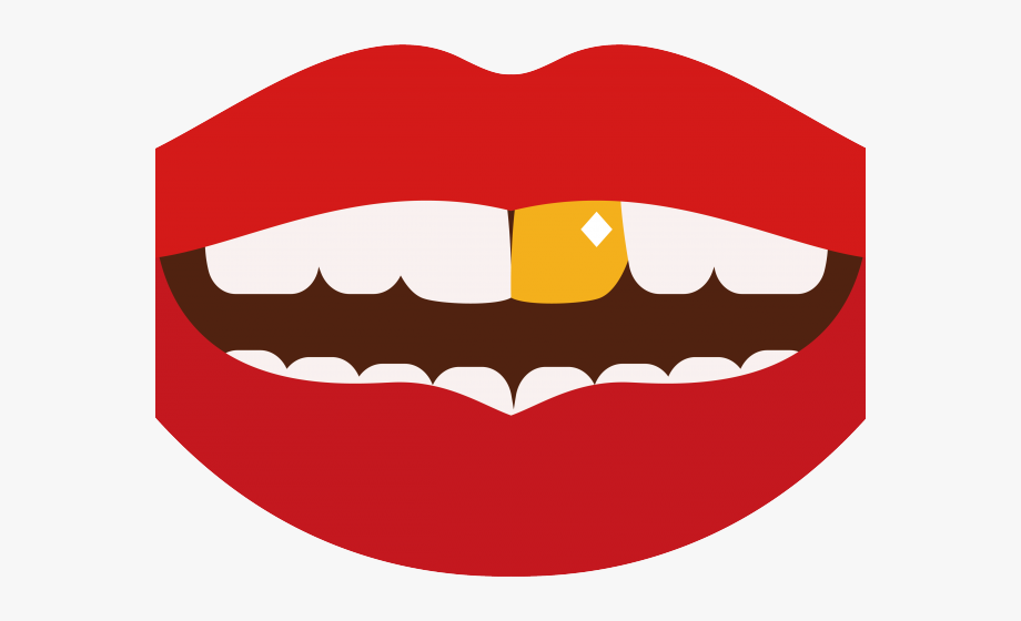 Lip clipart juicy lip. Lips gold tooth cliparts