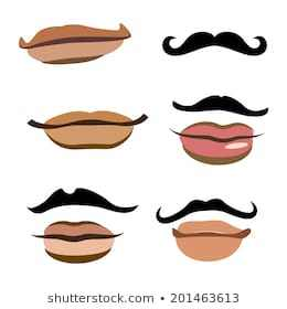 Lip clipart male. Vector herpes on man