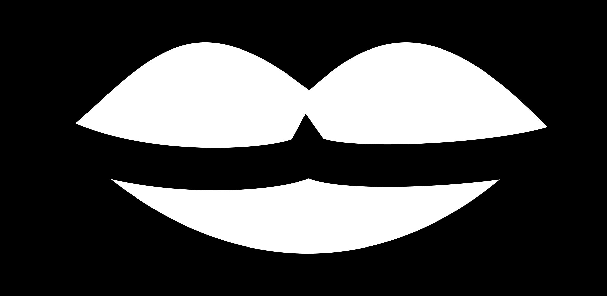 Moustache clipart simple. Lips big image png