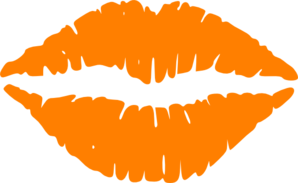 Lips clipart orange. Clip art at clker