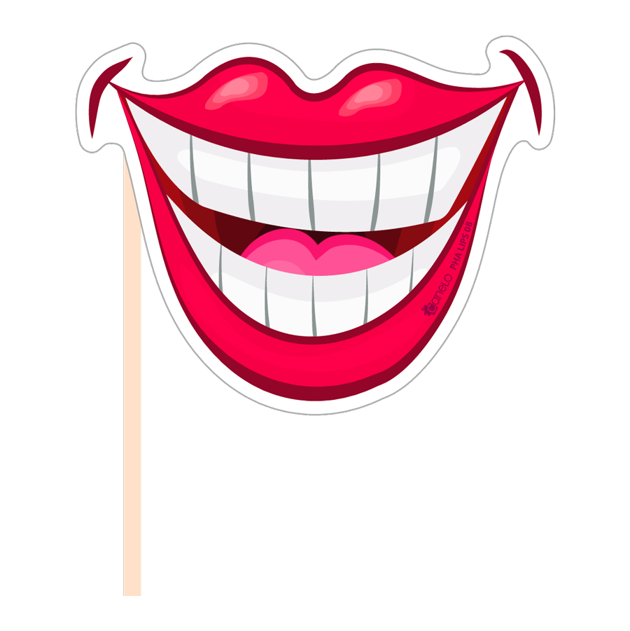 collection of props. Mouth clipart photo booth lip