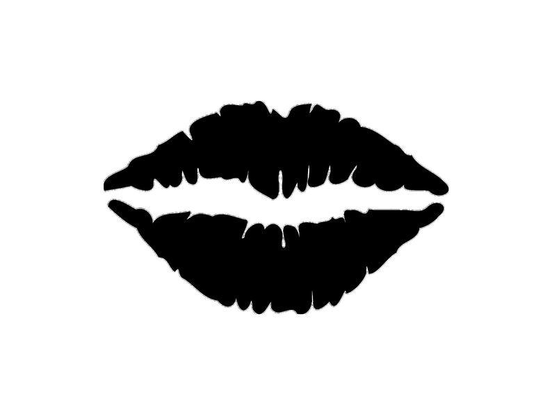 Lips cutting file svg. Lip clipart silhouette