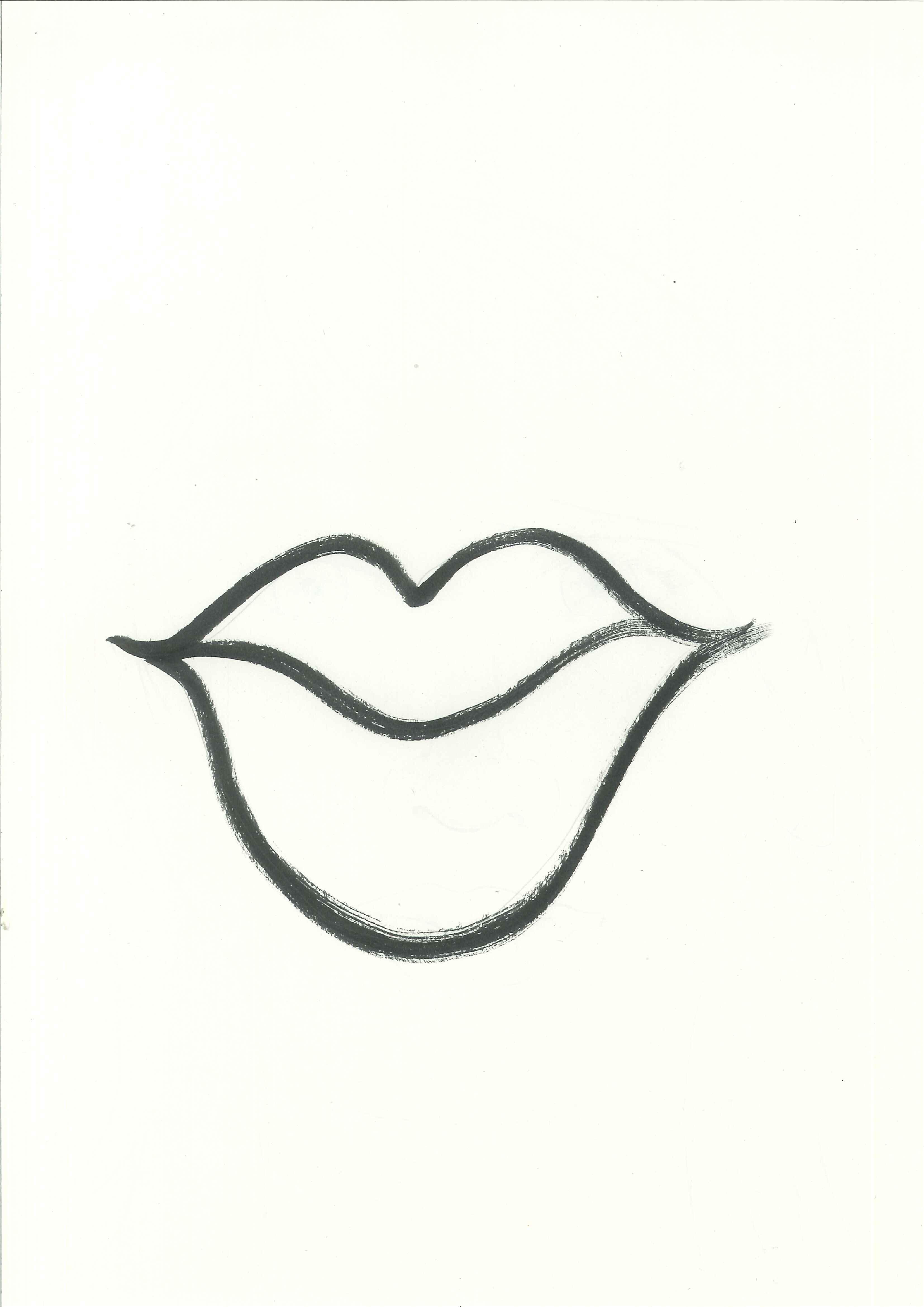 Lip clipart sketch. Free lips clip art