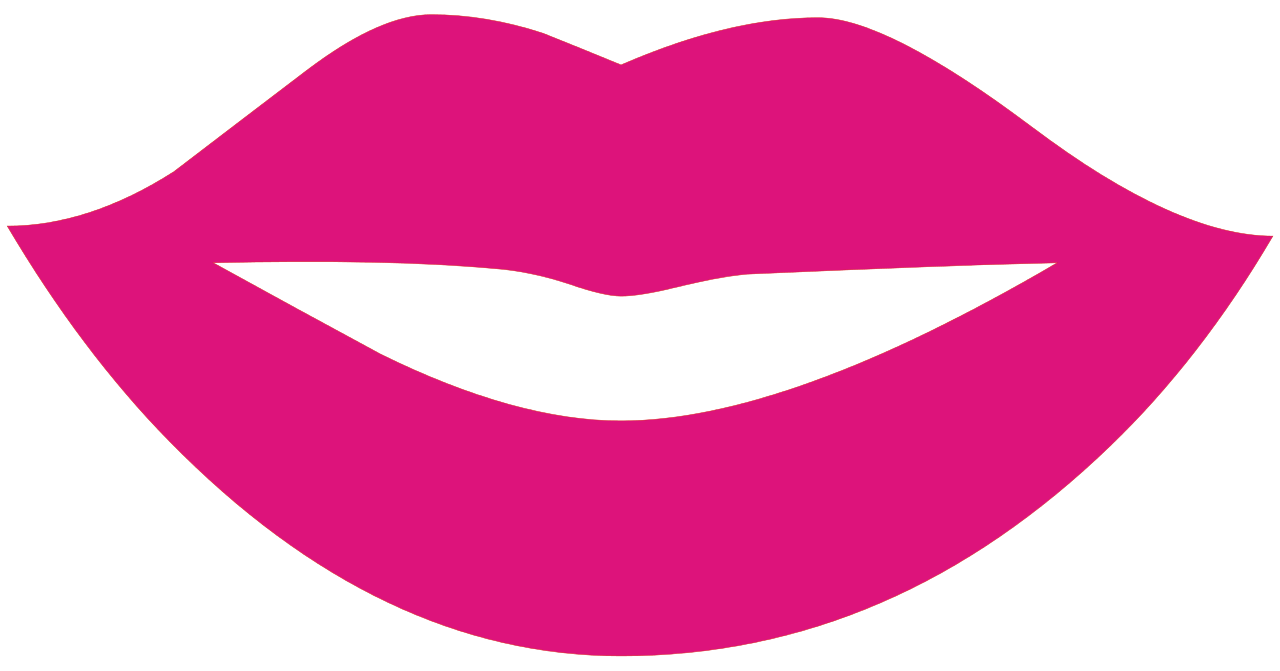 Luxury template gift example. Lips clipart nose